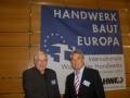 V. Kazāks kopā ar Valteru Bourihteru, Minsteres Amatniecības kameras izpilddirektoru